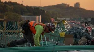 Proteção contra quedas durante obras no telhado